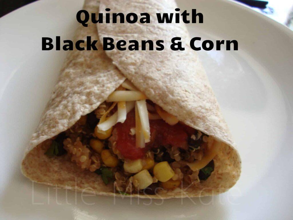 quinoa black beans corn