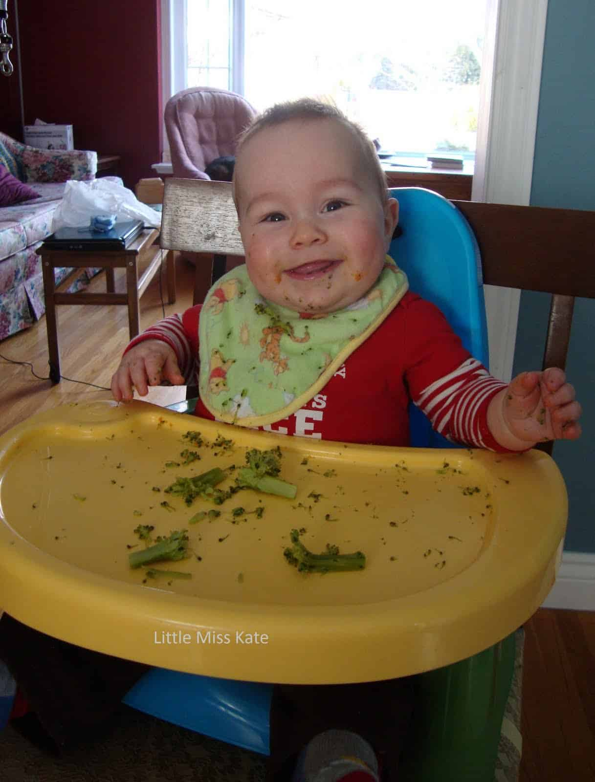 messy high chair play