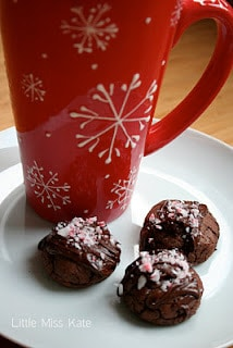 Chocolate Peppermint Cookies Recipe via Littlemisskate.ca
