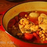 Food for Friday — Braised Chicken with Garbanzos and Tomatoes