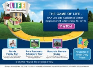 THE GAME OF LIEE - CAA Life-side Assistance Edition