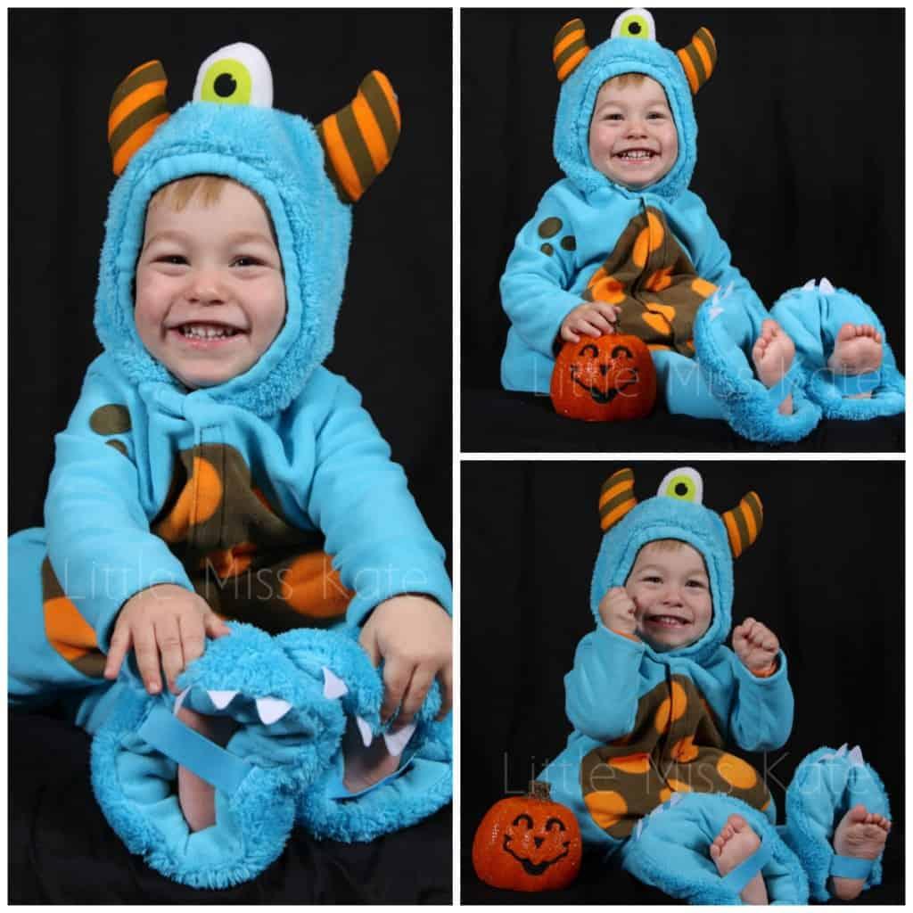 Halloween blue monster