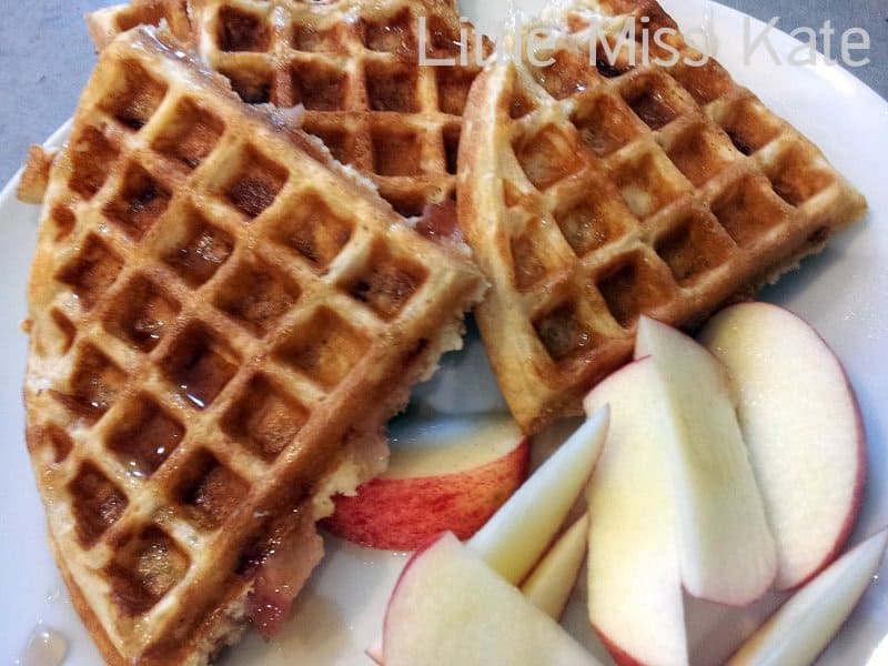 Food for Friday - Brown Sugar Bacon Waffles - Little Miss Kate
