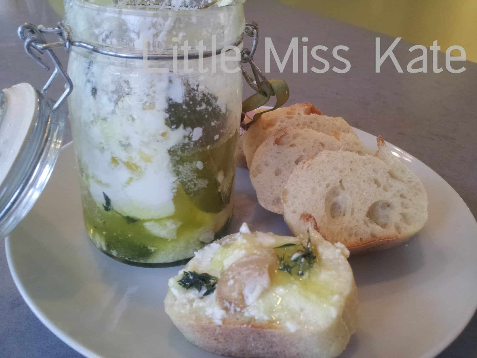 Food for Friday - Marinated Goat Cheese - Little Miss Kate
