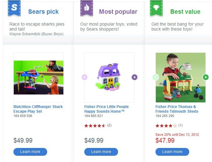 Sears Toy Finder