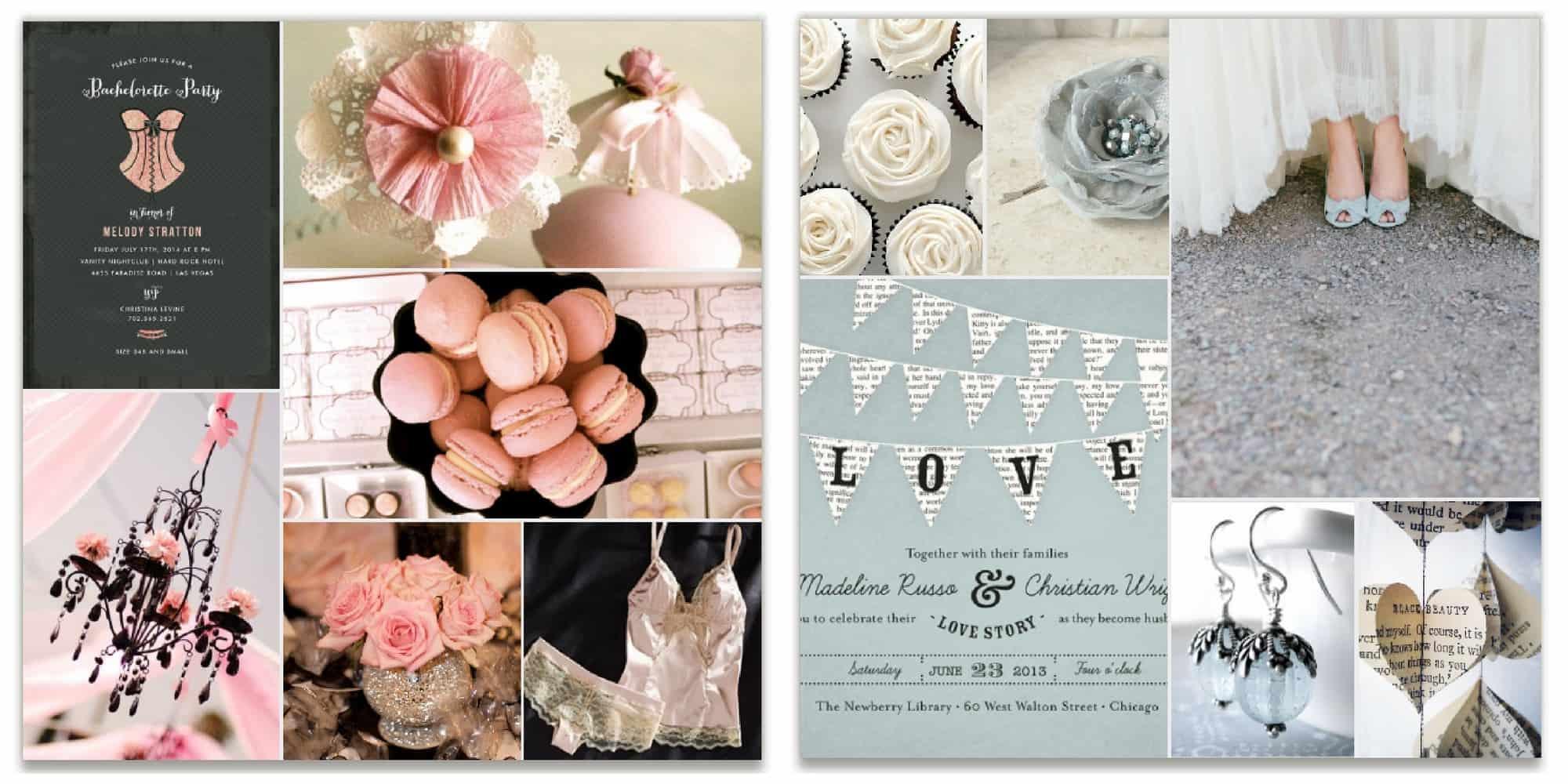 inspiration board bachelorette wedding