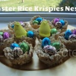 Easter Rice Krispies Nests {Recipe}