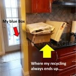 Clearing Up my Counters with Rubbermaid's Hidden Recycler {GIveaway}