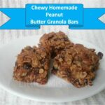 Homemade Peanut Butter Raisin Granola Bar Recipe