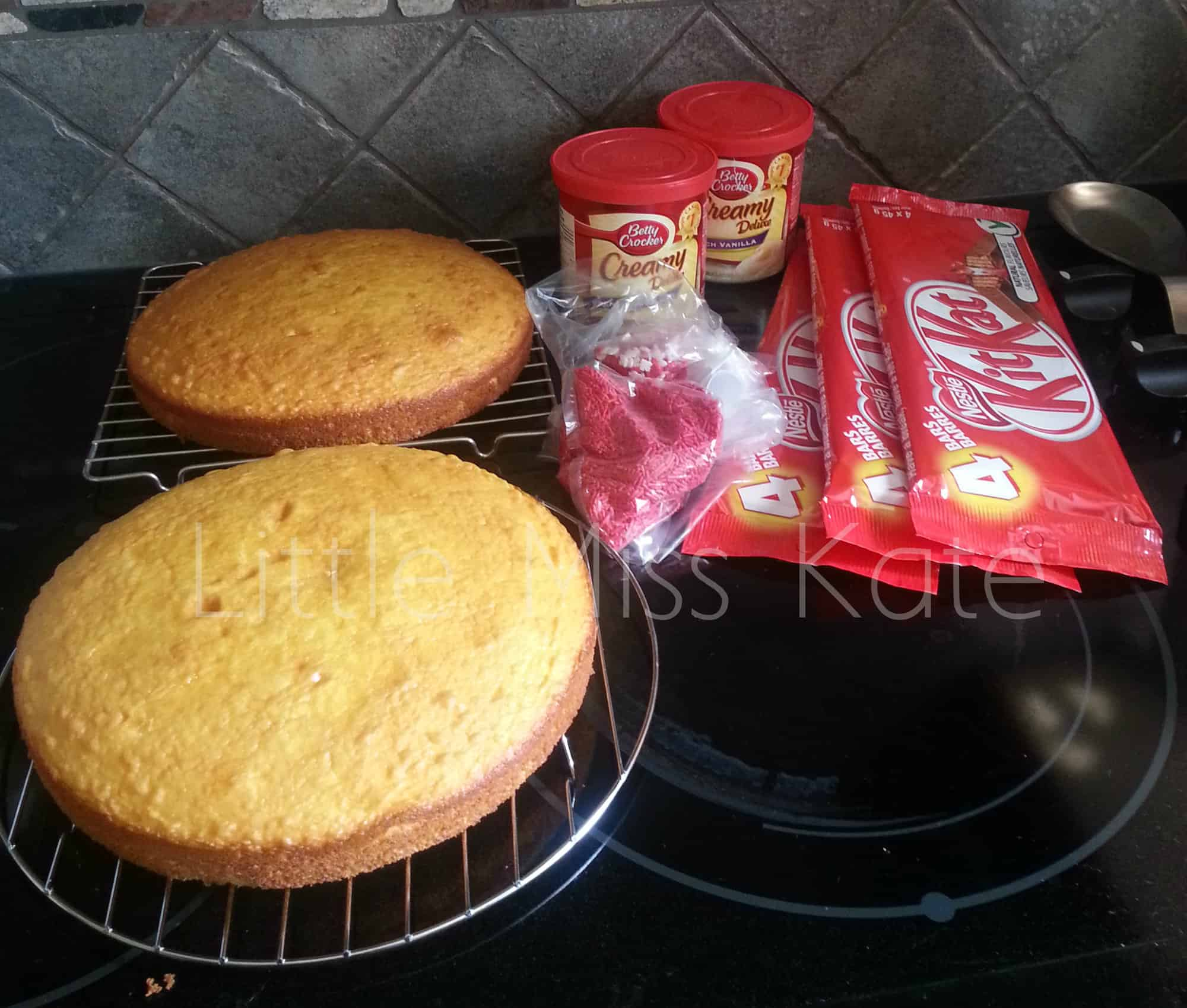 Easy Canada Day Dessert Idea - Kit Kat Canada Day Cake Recipe