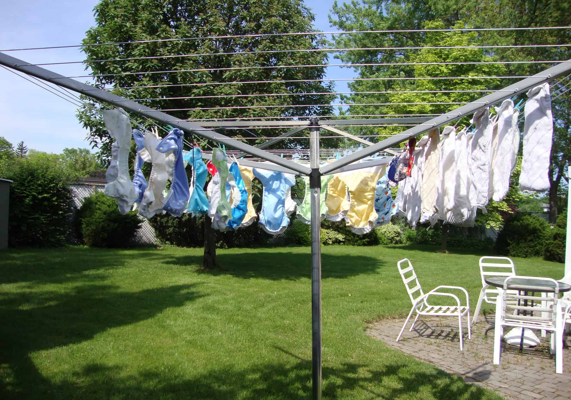 sunning cloth diapers