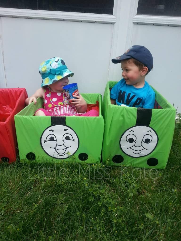 Thomas the Train toy birthday game