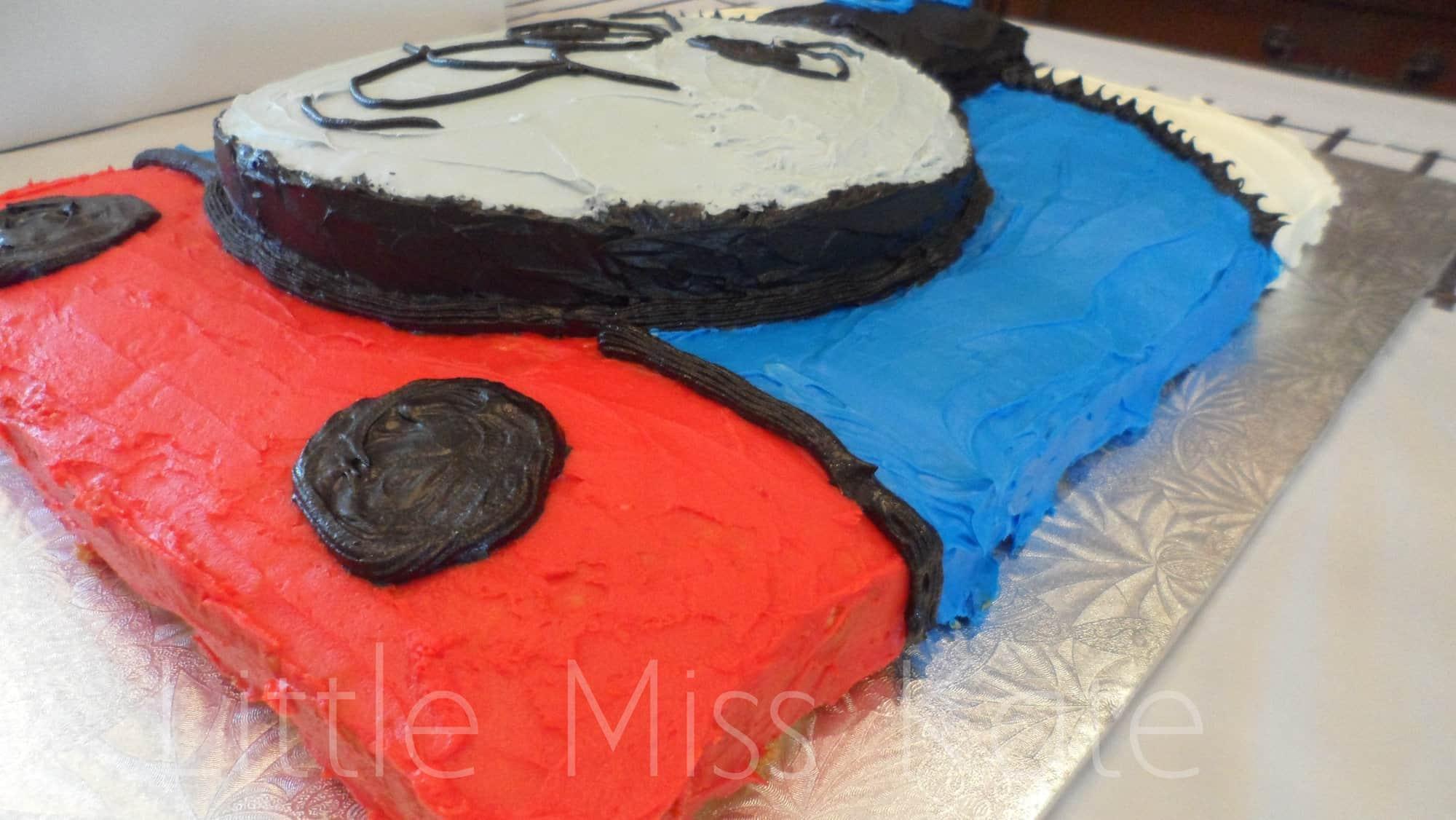 Easy Homemade Thomas The Train Cake Little Miss Kate
