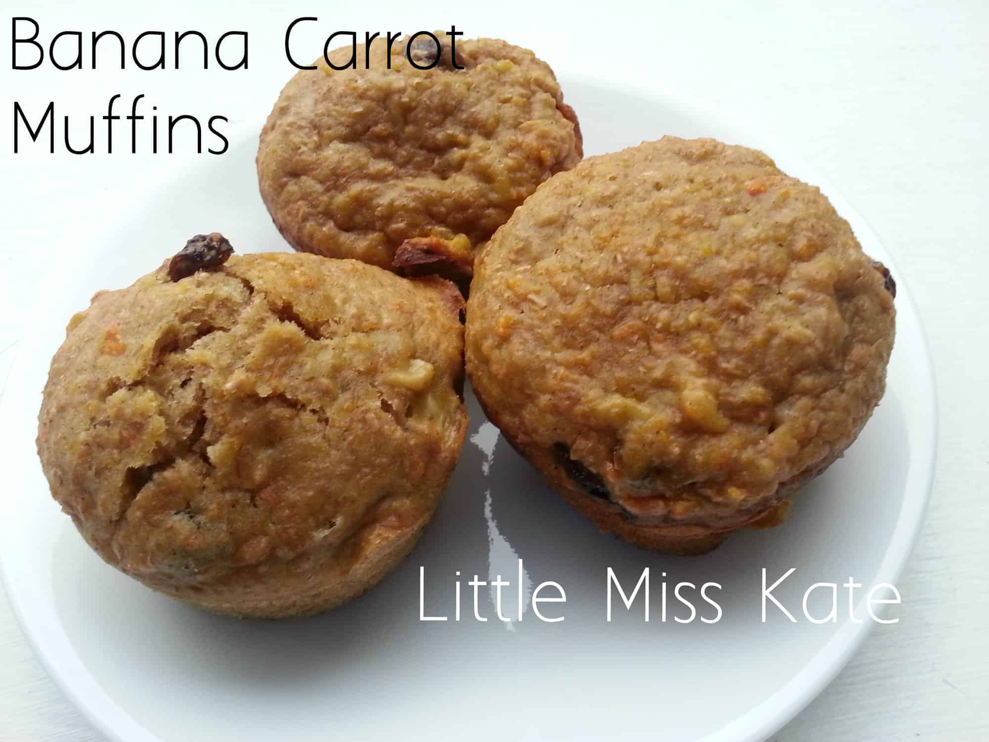 Apple Banana Carrot Muffins
