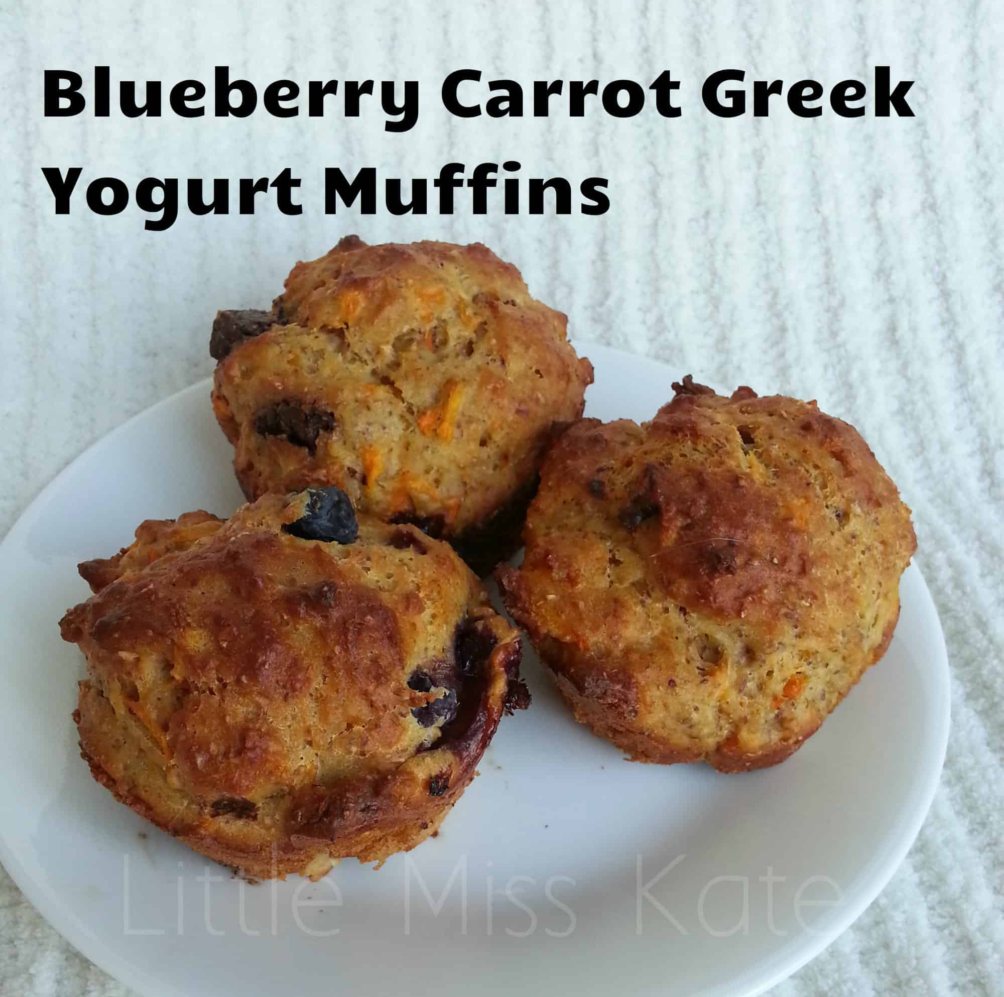Blueberry Carrot Muffins with yogurt