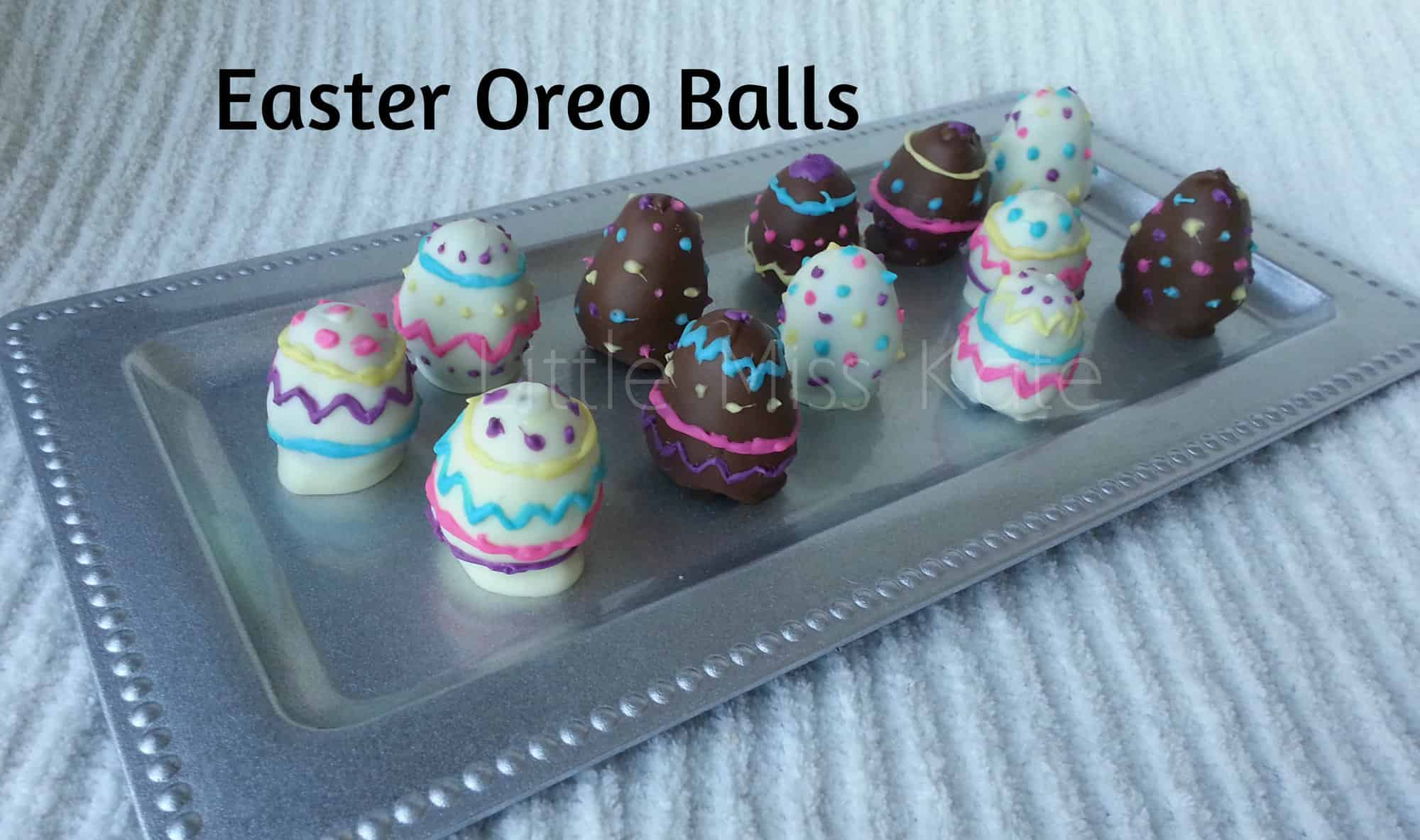 Easter Oreo Balls - Easter Dessert Idea via Little Miss kate