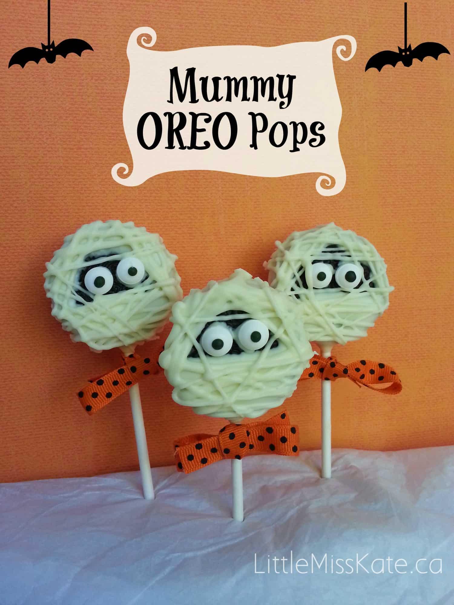 Halloween Treats Mummy Oreo Pops dessert idea