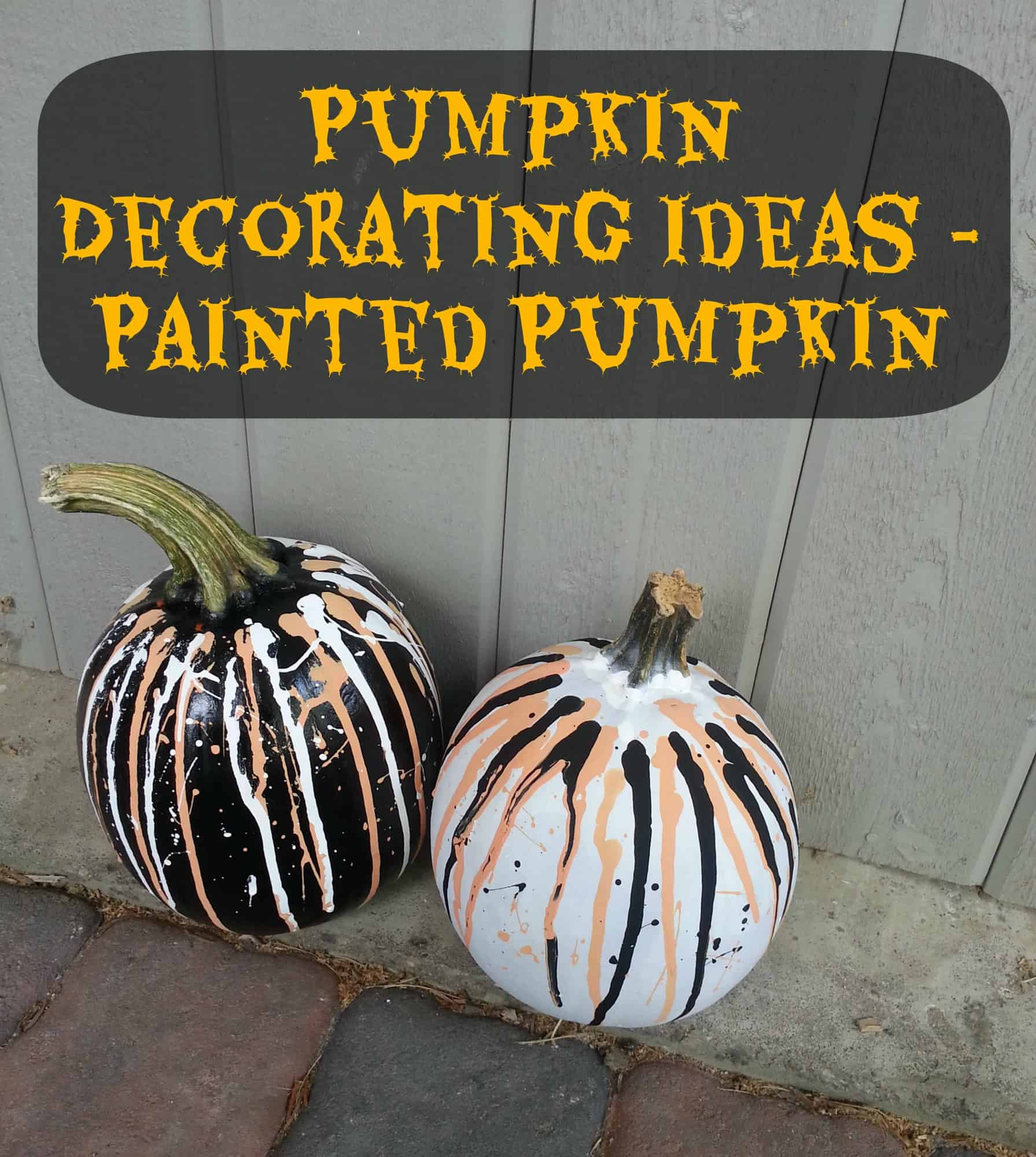 Pumpkin Decorating Ideas - Painted Pumpkins 4