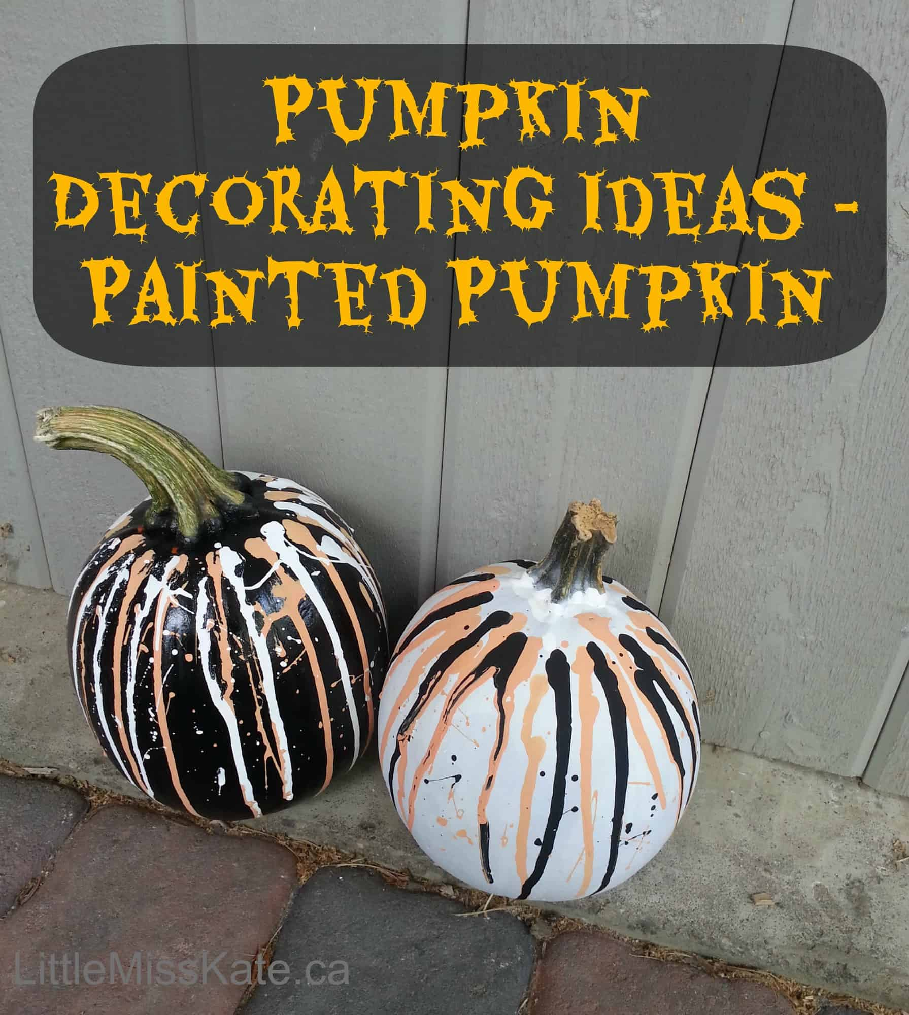 Pumpkin Decorating Ideas – Painted Pumpkins