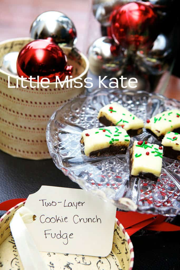 Easy baking Exchange recipes - Two Layer Cookie Crunch Fudge