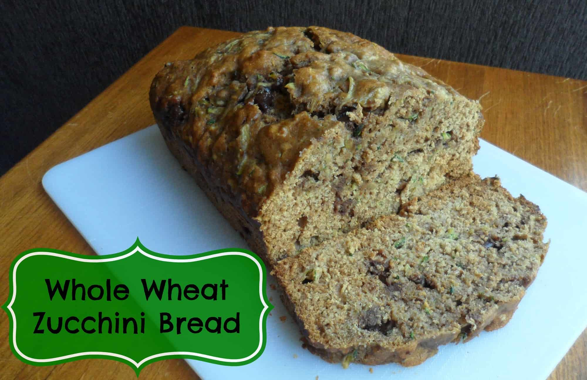 Whole Wheat Chocolate Chip Zucchini Bread recipe