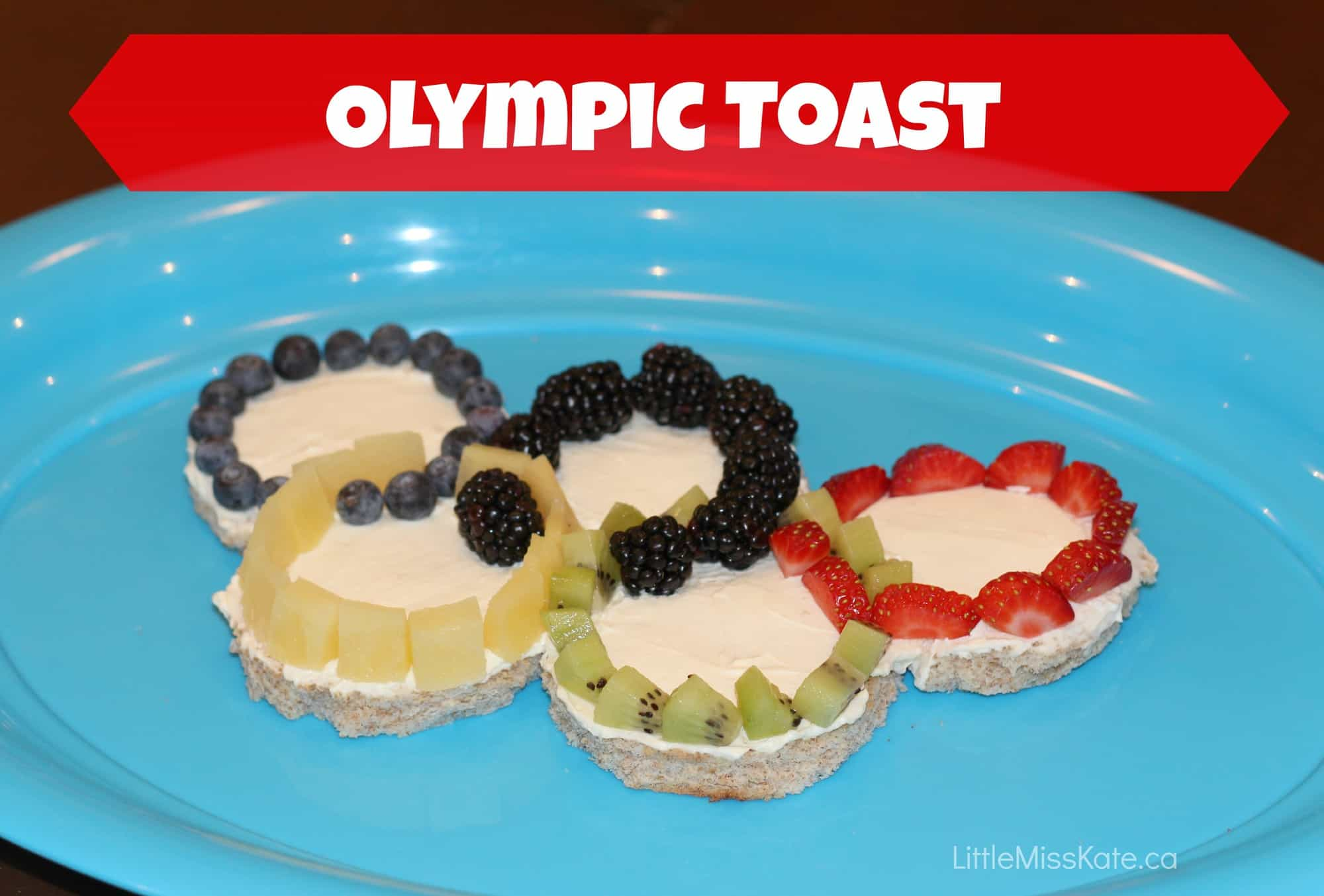 olympic party food ideas - olympic toast via LittleMissKate.ca