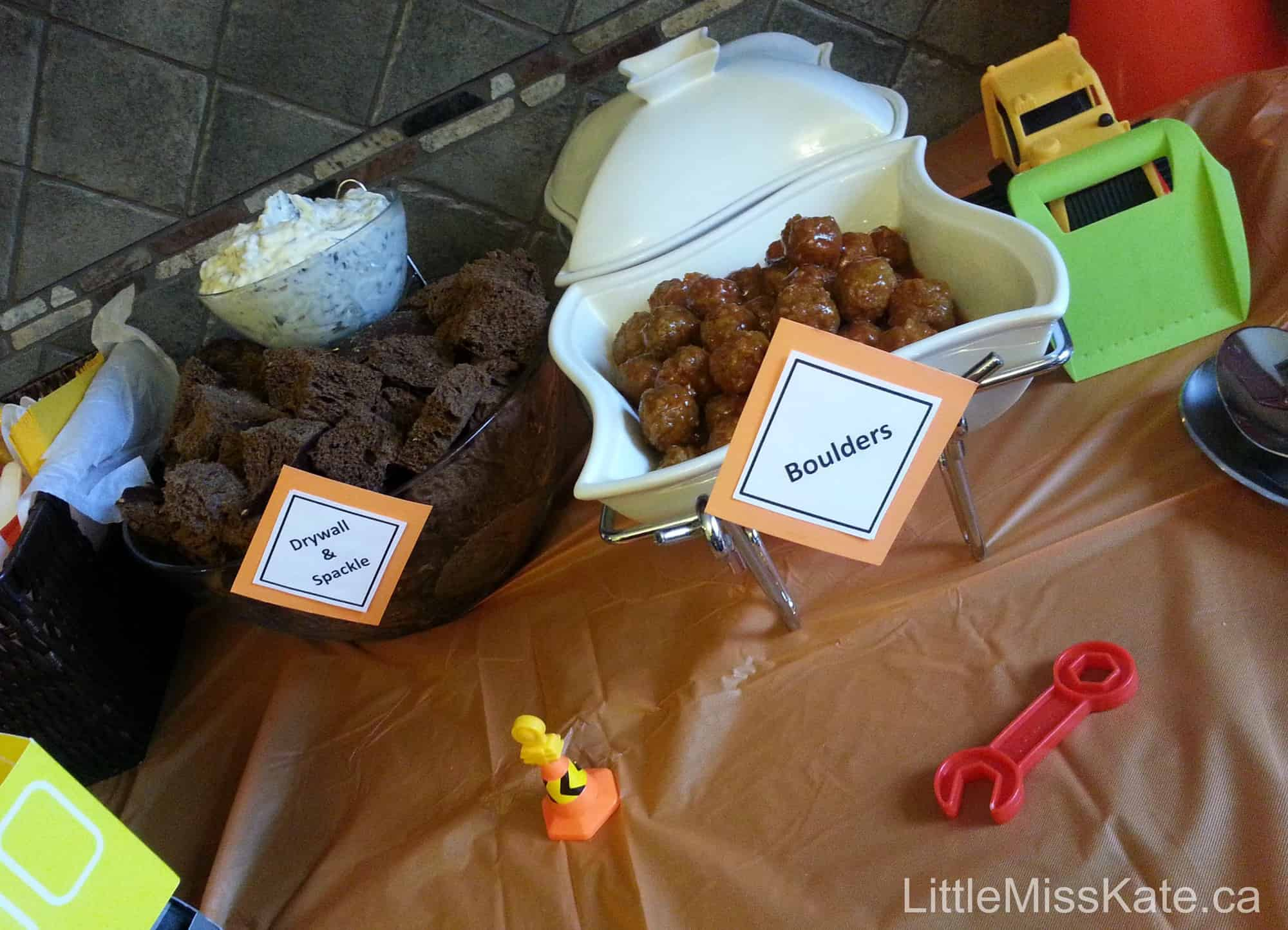 kids birthday party ideas food for a construction birthday party