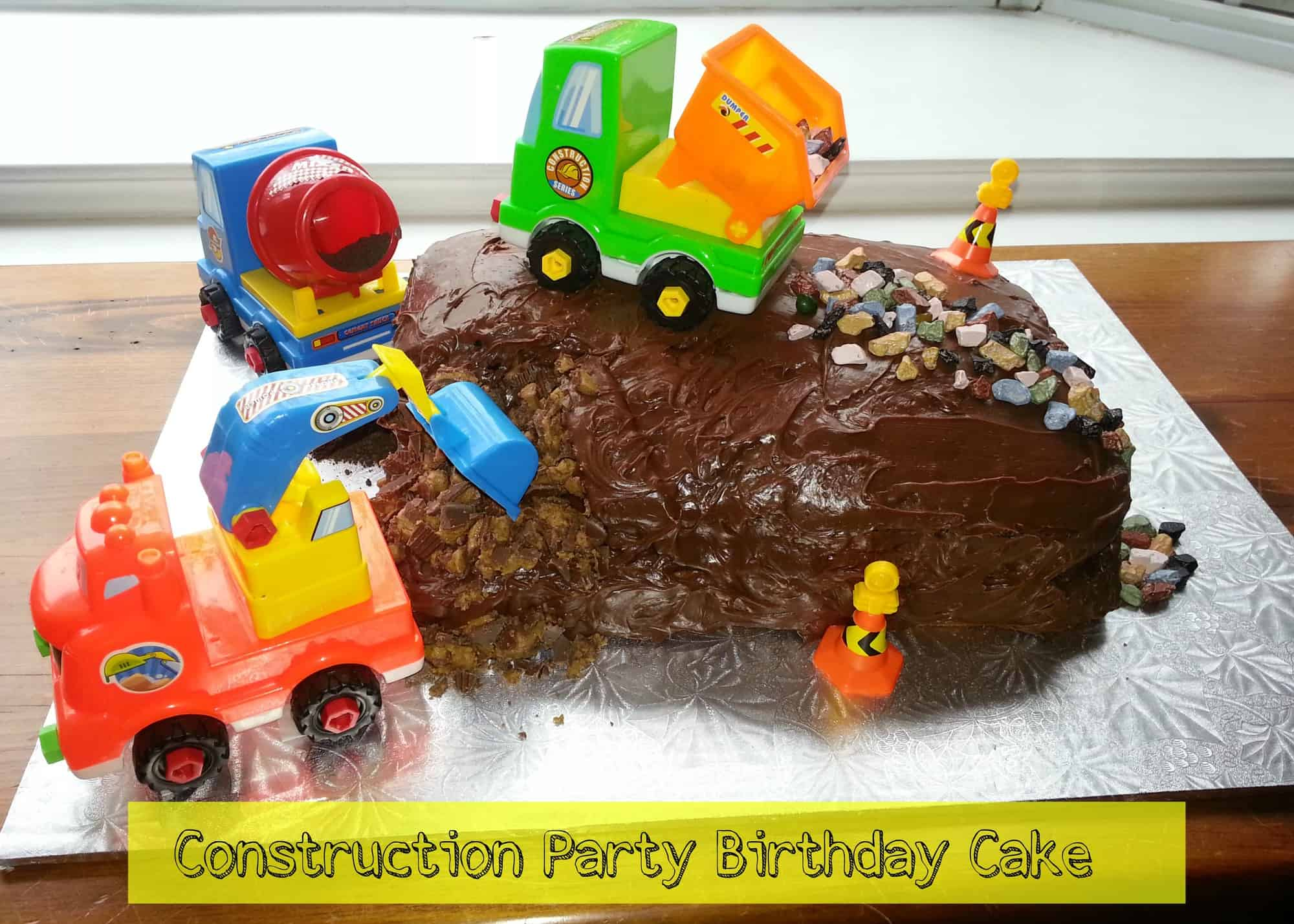 Construction Birthday Party Cake Idea
