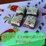 Easy Baking Exchange Recipes – Mint Chocolate Fudge #whatscooking