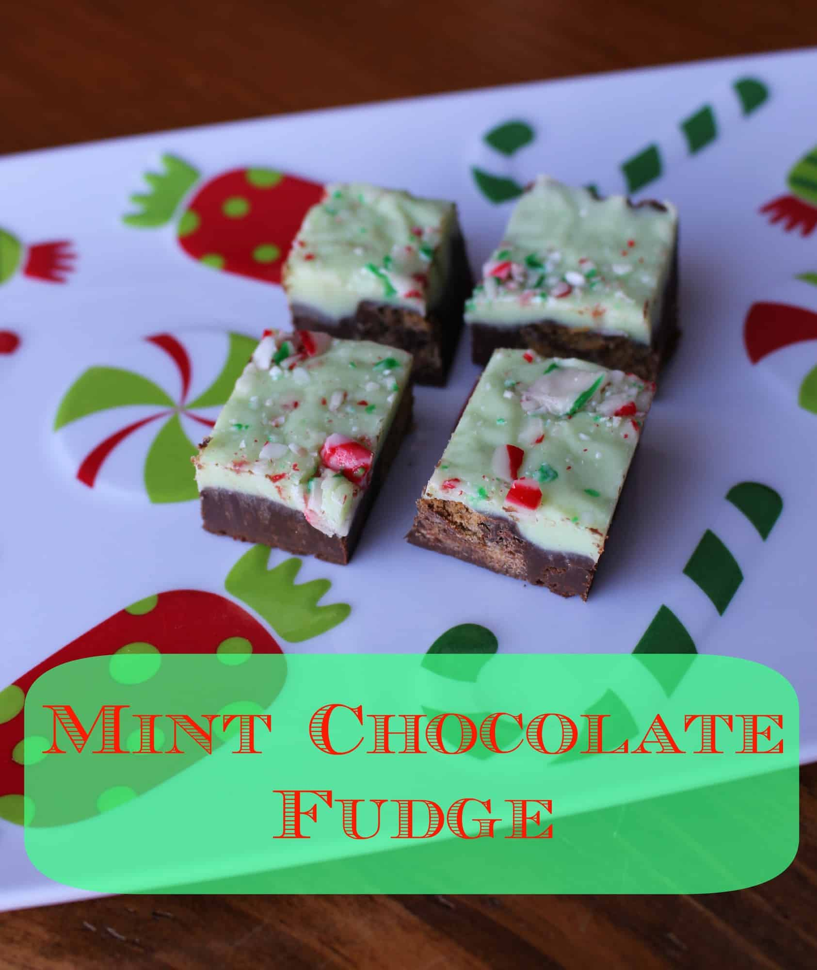 Easy baking exchange recipe - Mint chocolate fudge recipe