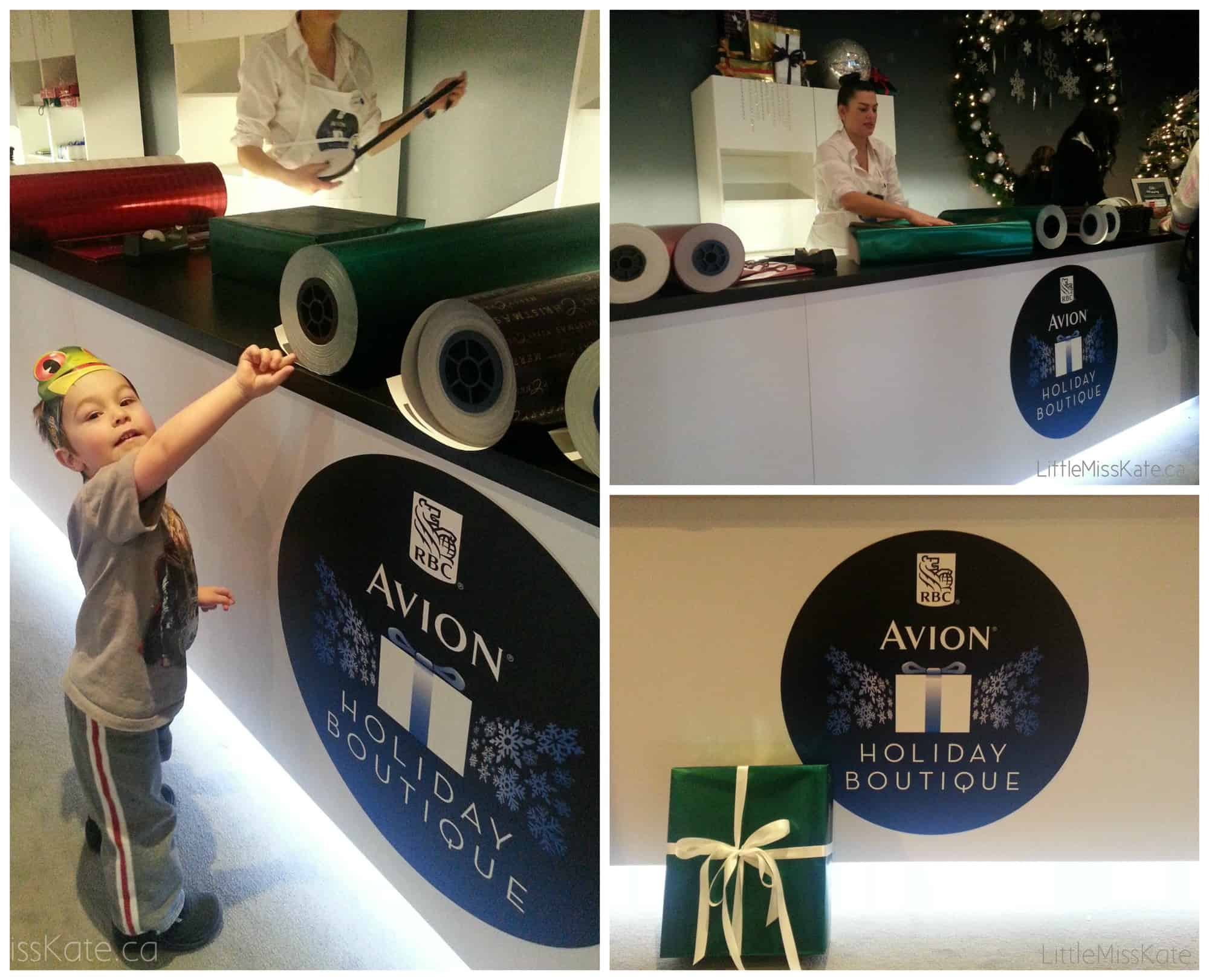 RBC Avion Holiday Boutique Yorkdale free gift wrapping