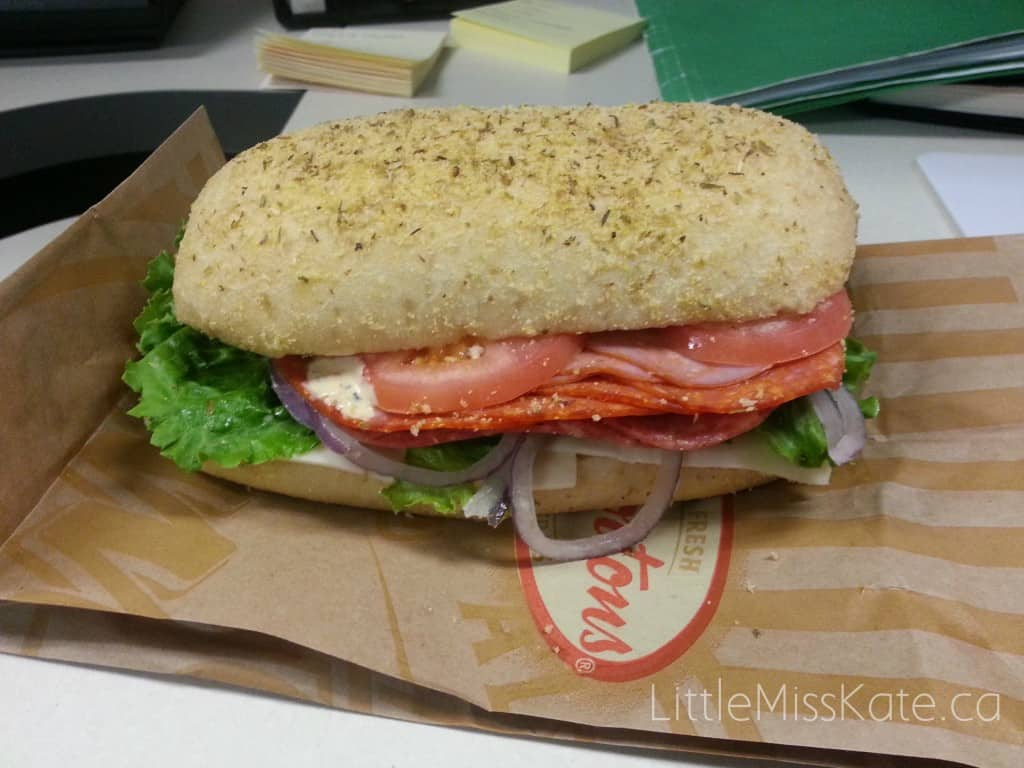 Taking A Break From Making Lunches With Tim Hortons Extreme Italian Sandwich