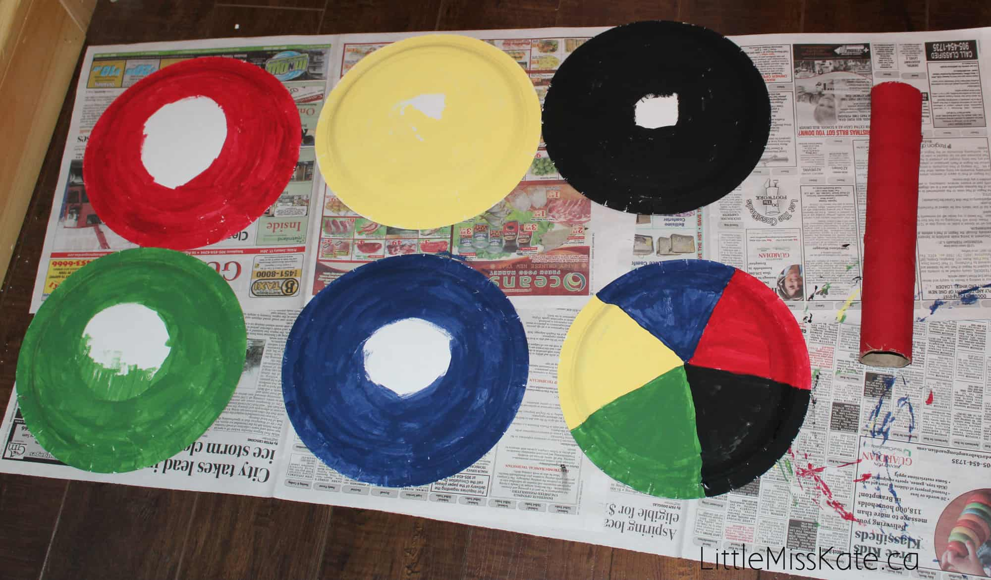 Crafts for Preschoolers - Olympic Ring Toss Game