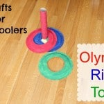Crafts for Preschoolers:  Olympic Ring Toss Game