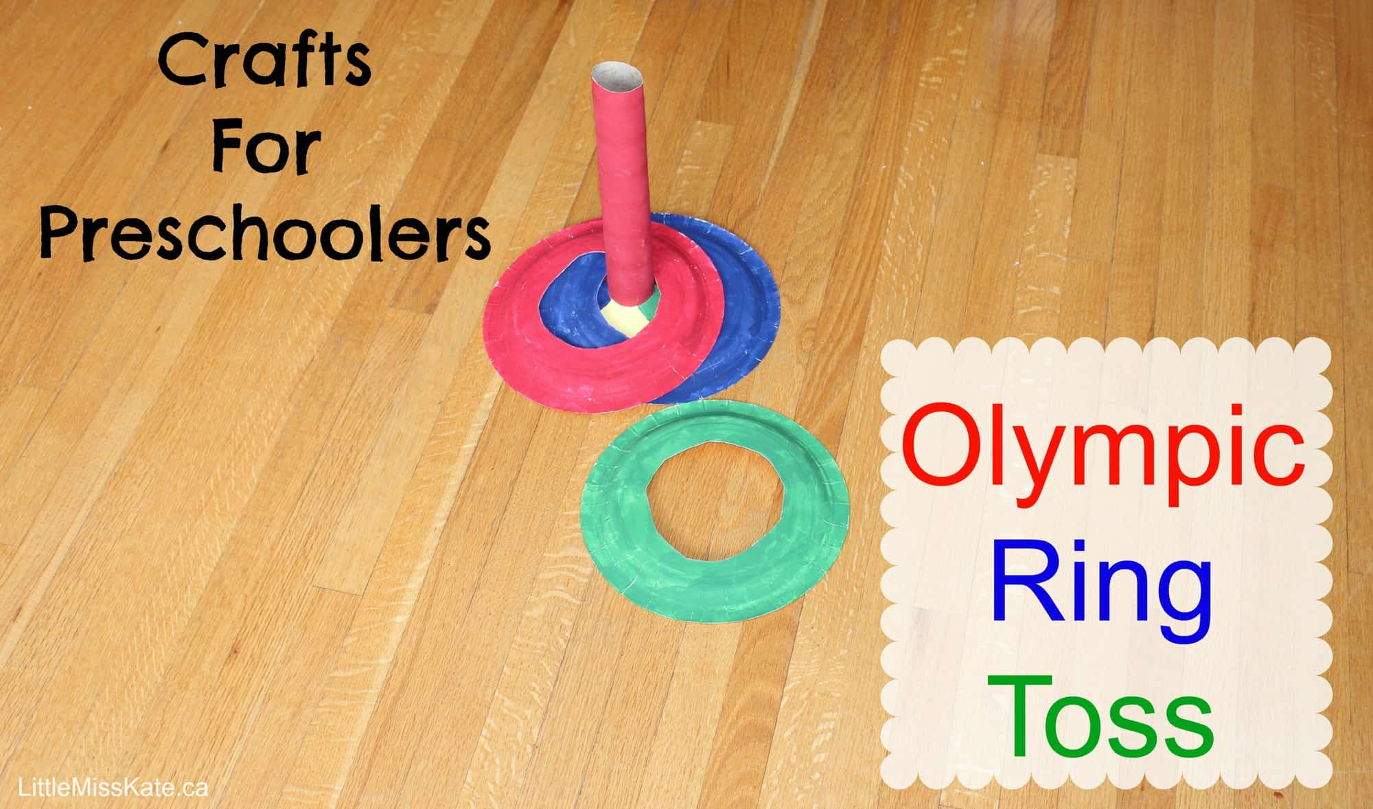Olympic crafts - Olympic Rong Toss via LittleMissKate.ca