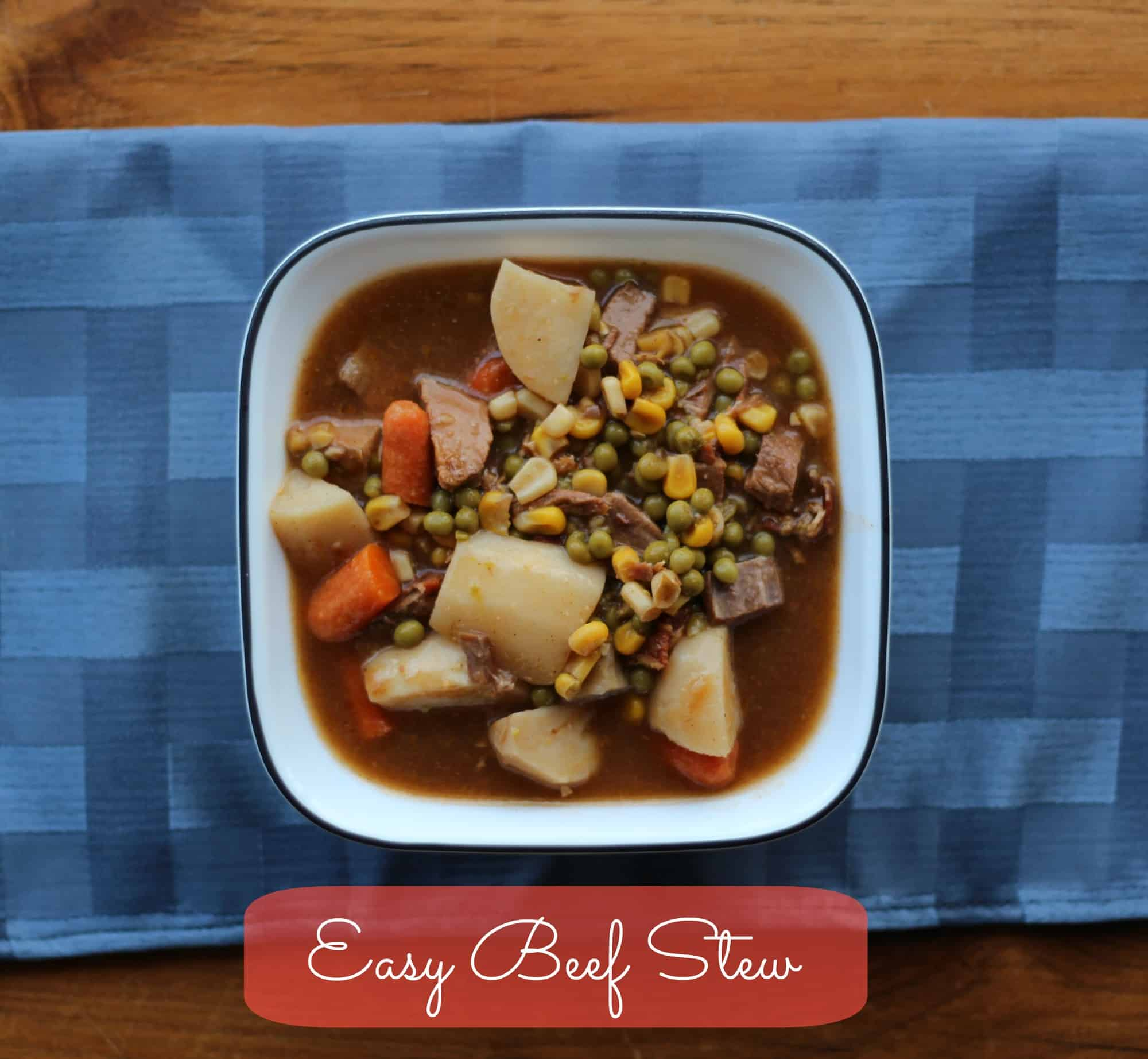 Easy Beef Stew Recipe slow cooker