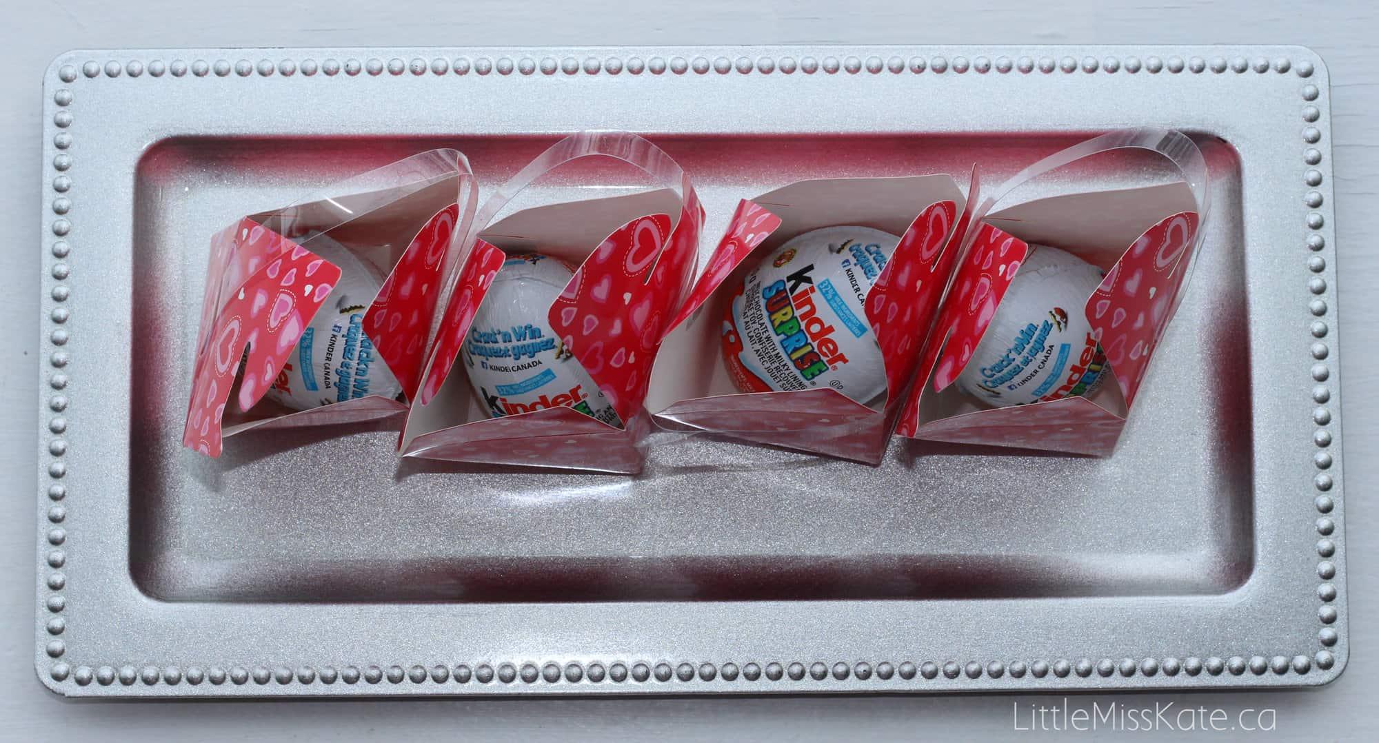 DIY Kinder Surprise Egg Valentines with Free Printable via LittleMissKate.ca
