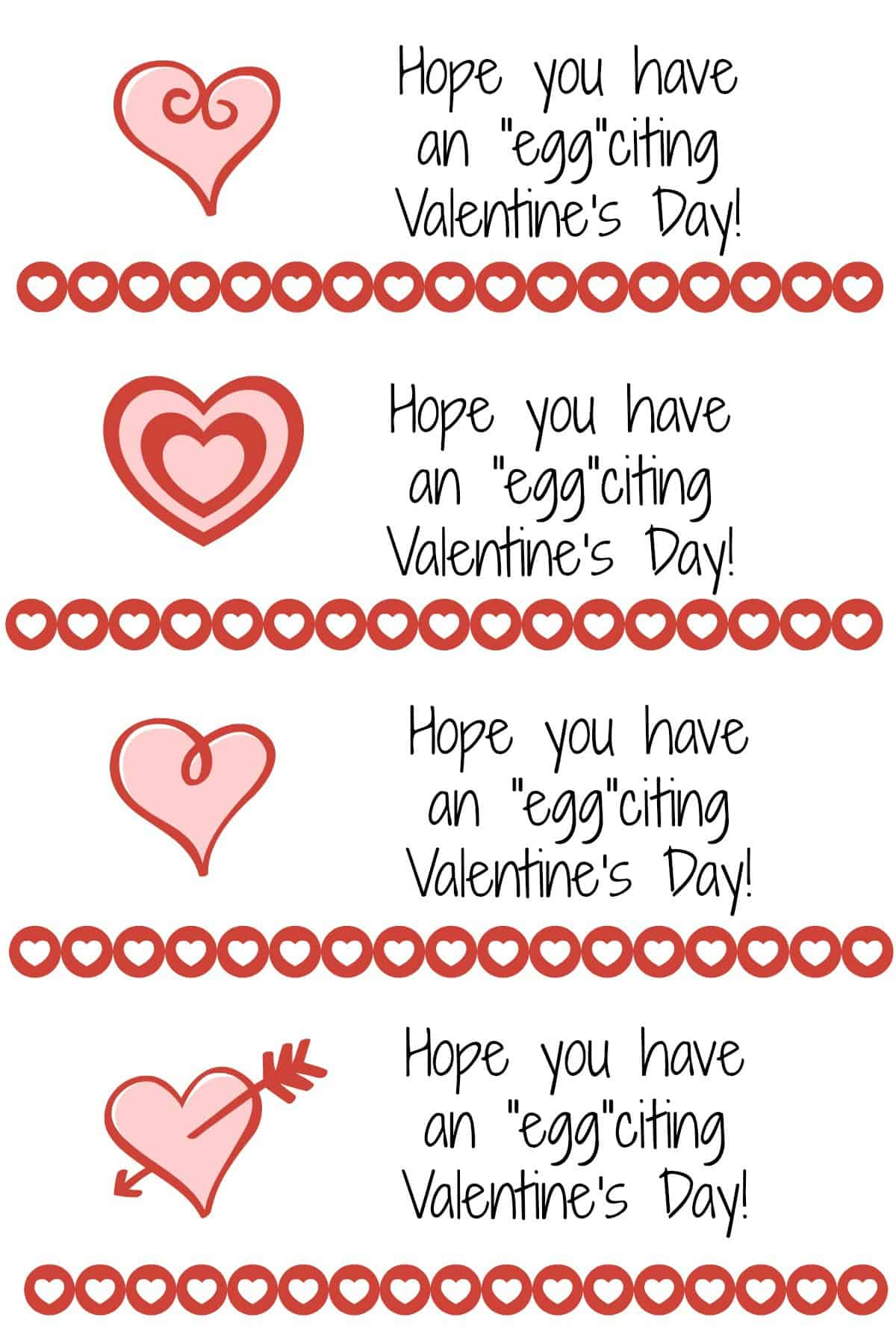 Valentines Day Kinder Egg Treat Tags