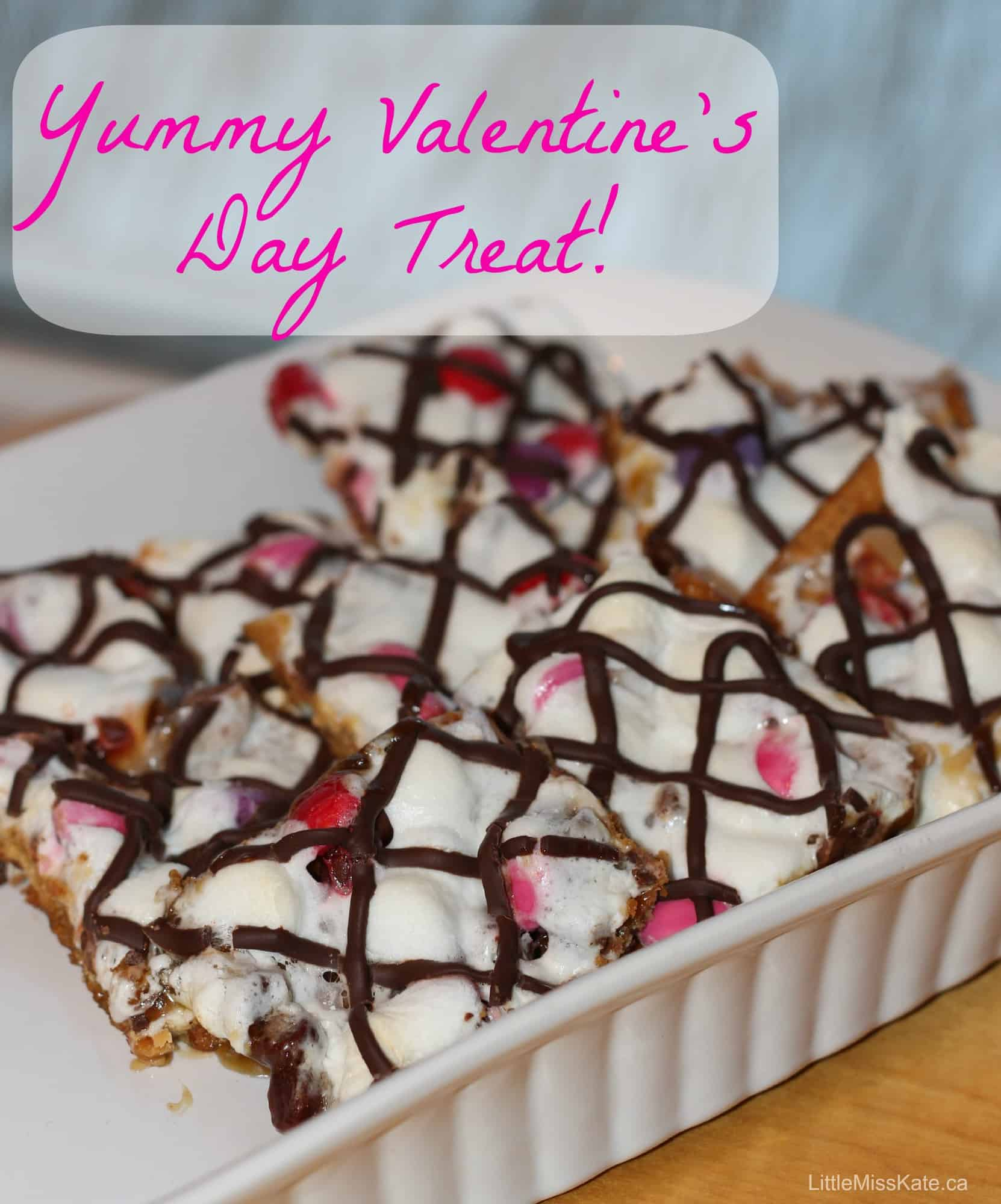 Valentines Day Smores Bark