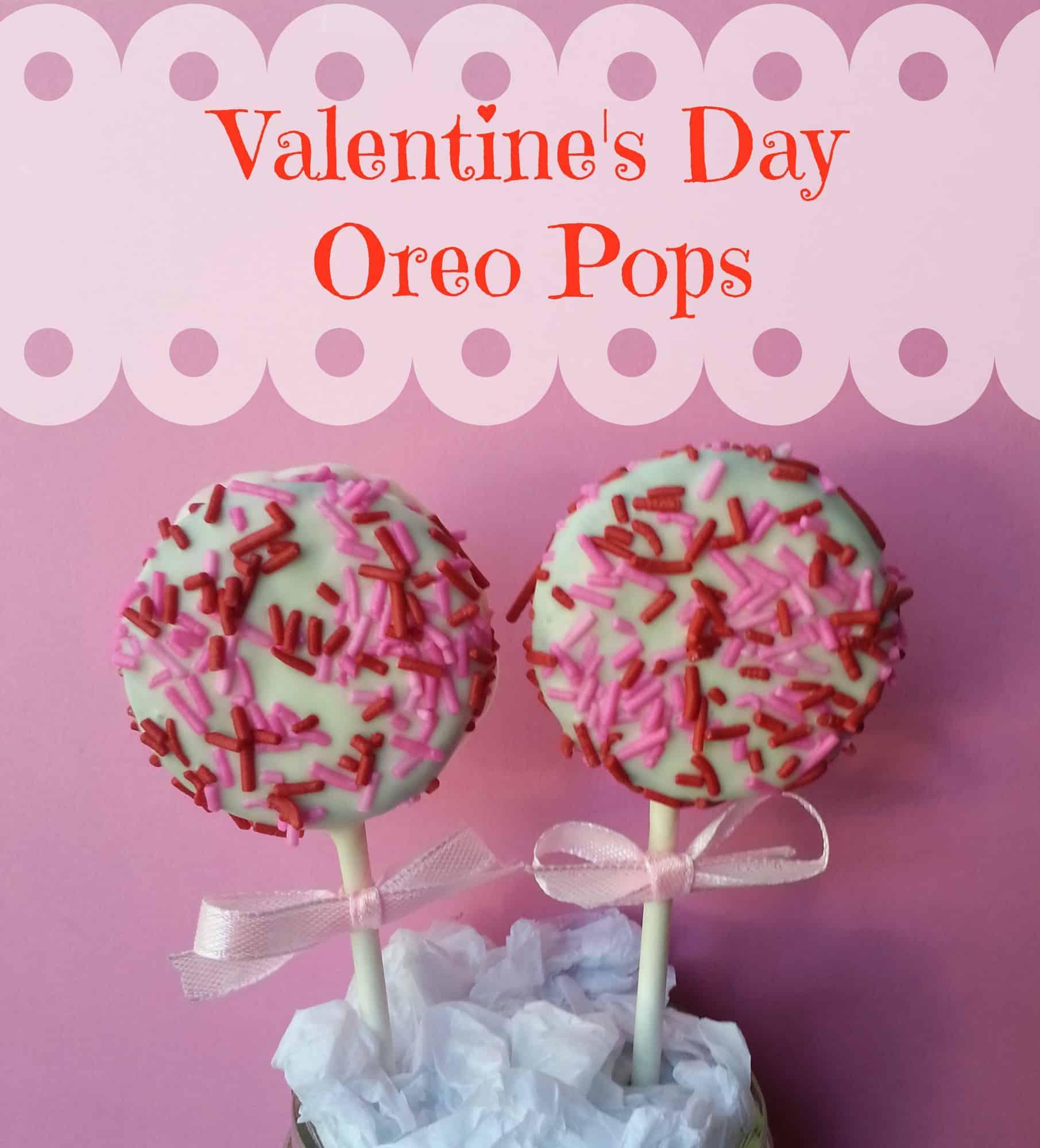 Valentine's Day Party Dessert Idea – Valentines Day Oreo Pops Recipe via LittleMissKate.ca