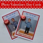 DIY Personalized Photo Valentine's Day Cards with Peanut Butter Cups