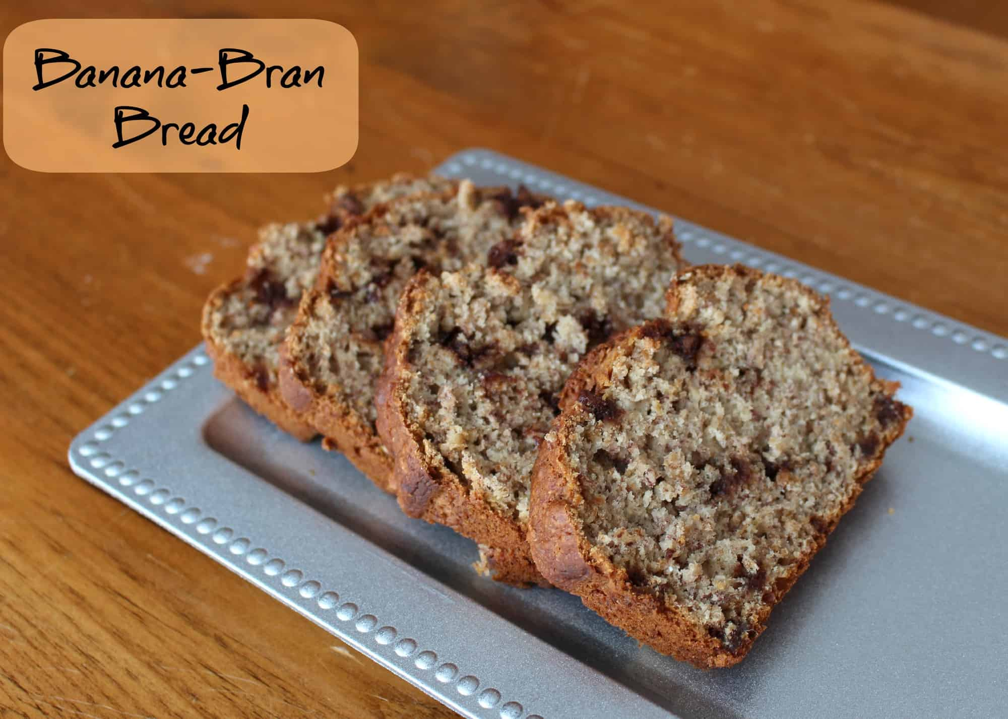 bran banana bread recipe with extra fibre via LittleMissKate.ca