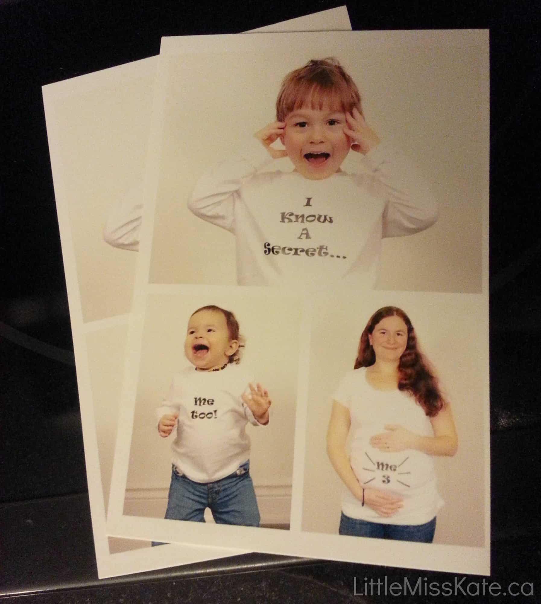 HP Photo Pregnancy announcement