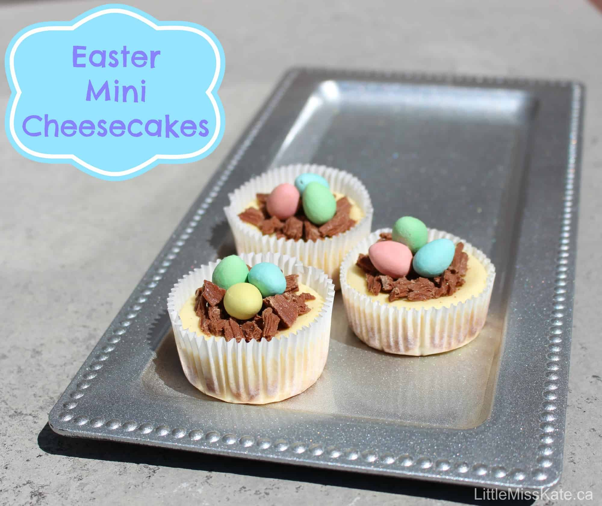 Easter Dessert Ideas: Easy Mini Individual Cheesecake