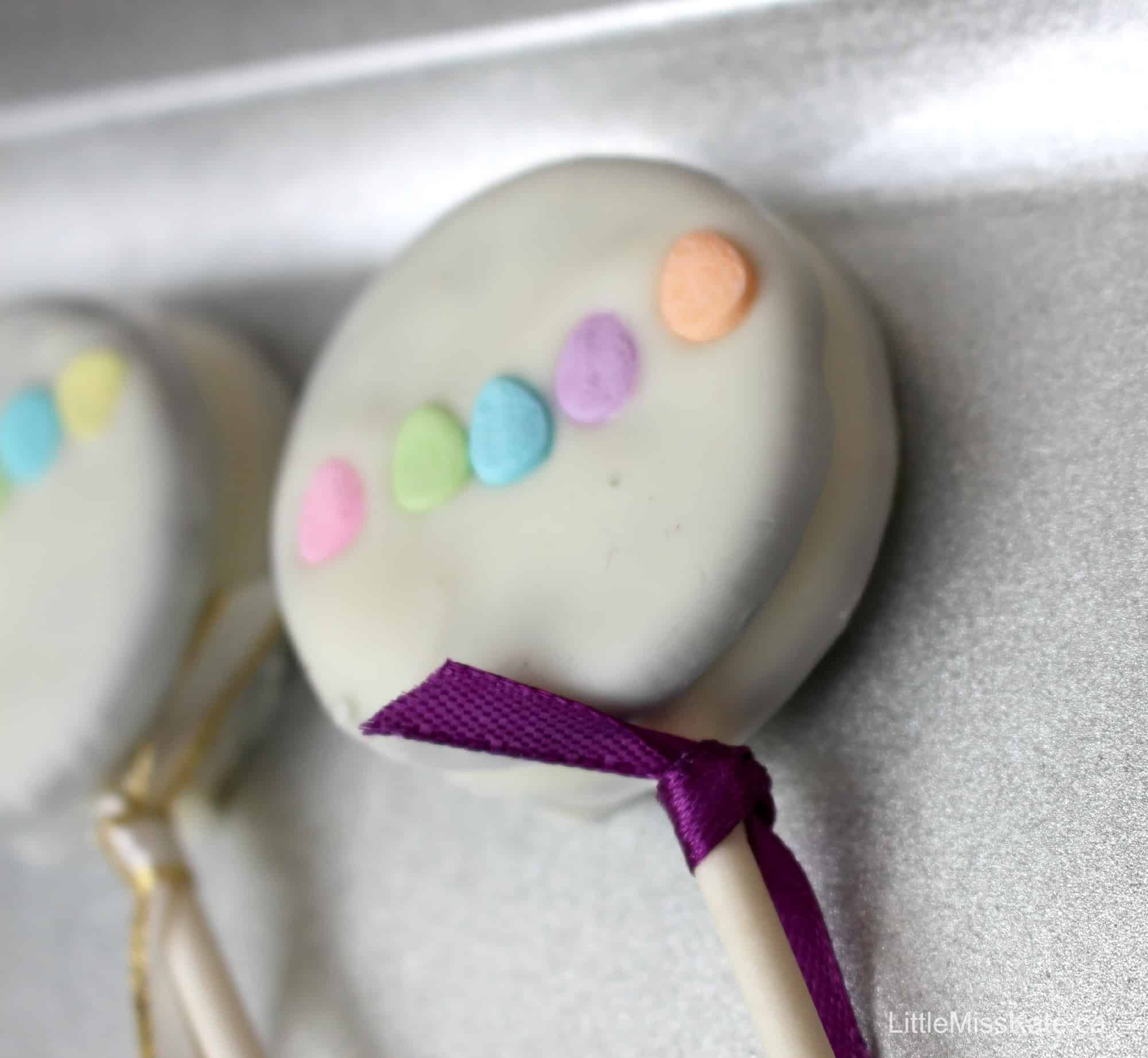 Baby Shower Dessert Ideas For A Boy baby shower dessert ideas: baby rattle oreo pops - little miss kate