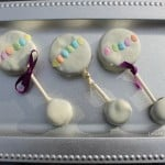 Baby Shower Dessert Ideas: Baby Rattle Oreo Pops