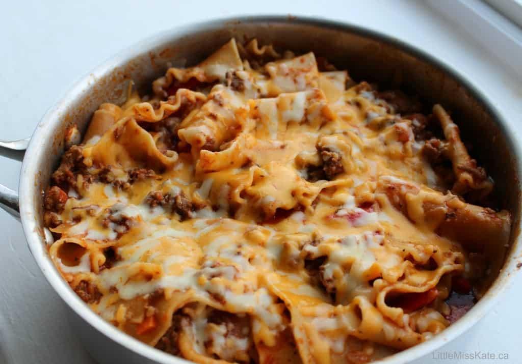 Easy Weeknight Lasagna Toss
