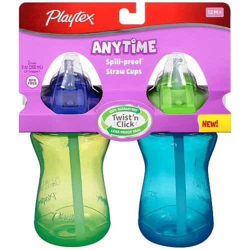 Leak proof sippy cup Playtex anytime staw sippy cup