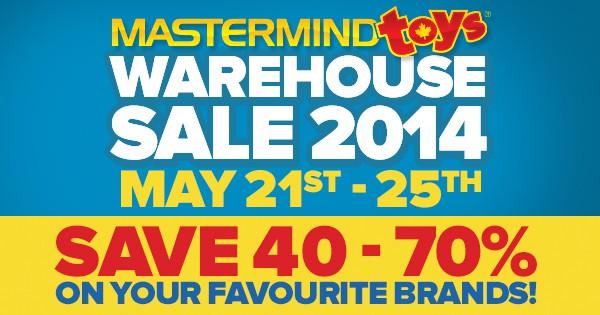 mastermind toys warehouse sale 2014