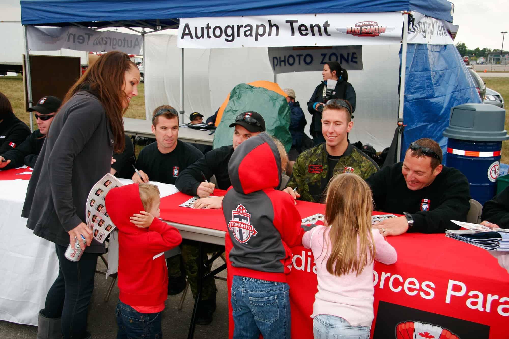 waterloo air show autographs